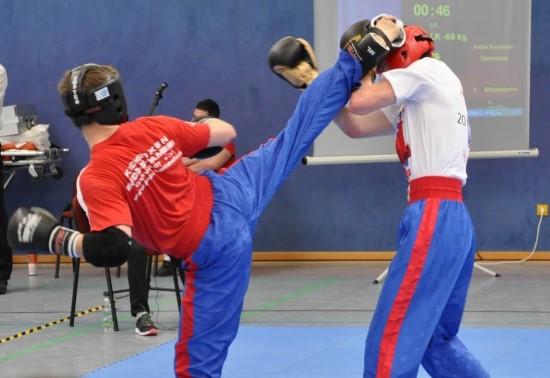 Andre (links) gewinnt Gold gegen Karim