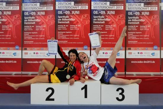 Yamile (links) gewinnt Silber + Jessica Gold