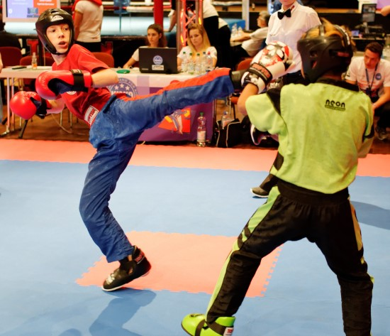 Vladislav (links) gewinnt im Point Fighting Gold