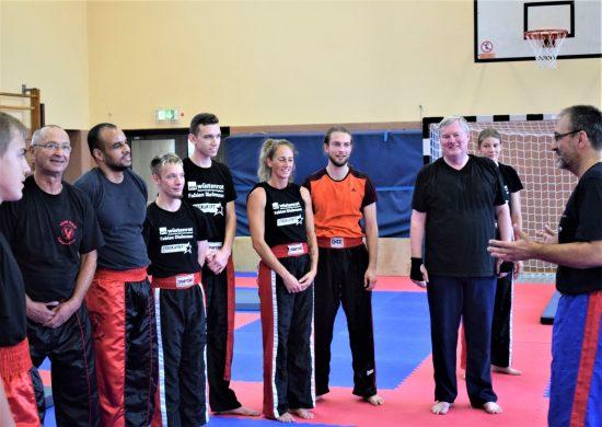 Markus mit Trainingsgruppe